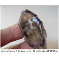 Herkimer Diamond Kuvars & Rainbow