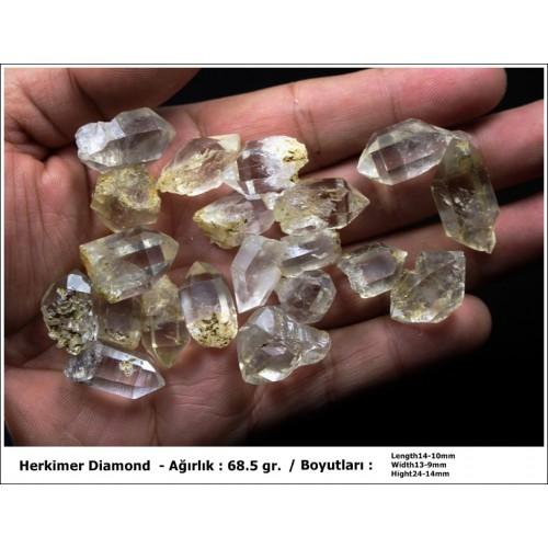 Herkimer Diamond Kristal Kuvars - 20 Adet