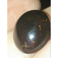 Etiyopya Siyah Opal Kabaşon