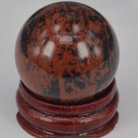 Mahogany Obsidyen Küre + Stand