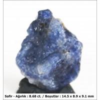 8.68 ct  Doğal Safir Kristali